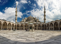 Sultan Ahmed Camii.... Blue Mosque. (acipinarli) Tags: sky panorama architecture turkey istanbul historic bluemosque sultanahmedcamii