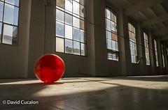 Red ball (David Cucaln) Tags: red ball luces rojo shadows empty sombras vacio pelota ligths cucalon davidcucalon