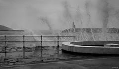 una poderosa sutileza (mariano snchez g. del moral) Tags: blancoynegro mar agua nikon d70 marejada playa bn paseo olas luarca 2012 blanconegro transparencia embrujo emeche