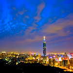 Taipei 101 at Dusk 台北101向晚
