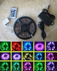 5M Waterproof 5050 SMD RGB LED Strip + Controller +Adapter (Light-Wellwaytech-LED) Tags: led strip adapter controller rgb 5050 5m waterproof smd