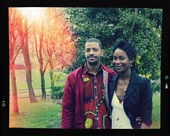 Strangers #9 Michel-Raiss (aoiharu) Tags: park smile couple african strangers retro limerick pixlr