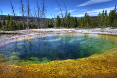 Morning Glory Pool (dbushue) Tags: nature landscape spring scenery colorful yellowstonenationalpark geyser bacteria thermal ynp 2010 seismic morningglorypool coth uppergeyserbasin supershot naturesgarden absolutelystunningscapes damniwishidtakenthat flickrclassique coth5 dailynaturetnc12