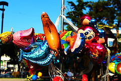 Fun kids balloons glyfada park playground colors banch street helium
