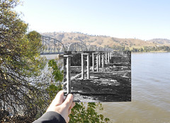 Bethanga Bridge Lake Hume (FotoSupplies) Tags: bridge river scene then now engineer lakehume bethanga thendate1920 abcopen:project=nat2