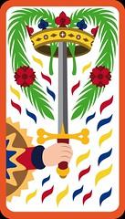 As d'Épée (aluniverse) Tags: bâtons coupes épées deniers tarotdemarseille arcanesmineurs arcanemineur 56cartes