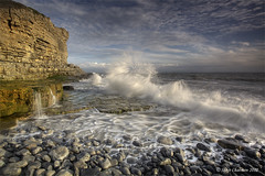 The Big Splash (Steve _ C) Tags: sea cliff beach southwales wales canon coast rocks waves tide pebbles 1740 2012 giottos monknash ndgrad heritagecoast leefilters 5dmk11 stevechatman