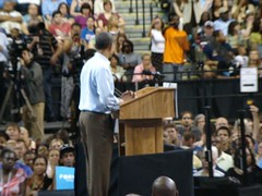 Obama Rally VCU (Video) (James B Currie) Tags: people video election president politics rally crowd richmond vcu democrat democratic forward middleclass 2012 corporations barackobama firedup wevegotyourback notback obamarallyvcu