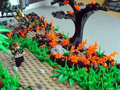 Burning grass (Eturior) Tags: river war lego contest scene vietnam huey decals diorama proto brickarms eturior