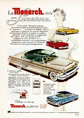 1954 Monarch Lucerne Series Ad (Canada) (aldenjewell) Tags: canada hardtop sedan ad convertible 1954 monarch lucerne sunvalley