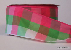 Watermelon Breeze Wired Ribbon (CottageCraftsOnline) Tags: pink watermelon business ribbon listed pinkandgreen greenandwhite wiredribbon rbreeze wiredbreeze