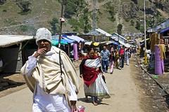 Tourists (bag_lady) Tags: people india tourism town sightseeing tourist tourists valley indians kashmir hindu hinduism pilgrims jammukashmir chandanwari earthasia