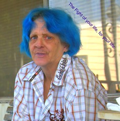 blue hair cancer fighting defiance adenocarcinoma