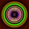 Roulette Circle (Visual Artist Frank Bonilla) Tags: color art wheel rainbow glow abstractart digitalart rings fresno rainbows digitalabstractart frankbonilla frankbonillatv visualartistfrankbonilla