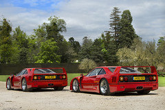 Legendary Duo. (Alex Penfold) Tags: auto camera red two house cars alex sports car sport mobile canon photography eos photo cool flickr image duo awesome flash picture super ferrari spot exotic photograph spotted hyper supercar spotting exotica sportscar 2012 sportscars supercars combo f40 cliveden penfold sdv spotter aeo hypercar 60d j76 hypercars alexpenfold j499 j76aeo j499sdv