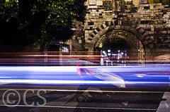 Something old and something new (UTknown) Tags: road street city longexposure castle bike night dark 50mm lights nikon traffic aachen cs lighttrails lightroom d5100 getyourgearout