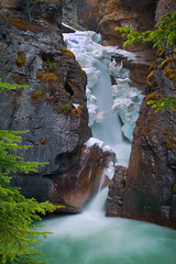 Johnston Canyon Lower Falls (Banff, Canada) (wrtrekker (Jerry T Patterson)) Tags: ocean bear ranch park travel flowers camping sunset sea summer camp vacation horse lake canada mountains west reflection water cowboys sunrise canon landscape island dawn photo spring google twilight buffalo tour photoshoot dusk hiking g wildlife parks moose hike jackson lodge willow western antelope snakeriver patterson banff wildflowers wyoming elk grizzly rv tetons bison cascade flick kootenay ynp rundle markii icefield pronghorn canadianrockies tnp markiii guidedtour icefieldparkway 72dpi willowflats 500px 5dm3