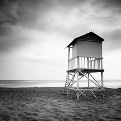 The Towers Calling.. (Peter Levi) Tags: longexposure blackandwhite bw seascape tower blancoynegro beach clouds greece le agiamarina chania nd110 bestcapturesaoi dblringexcellence tplringexcellence eltringexcellence