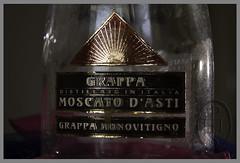 Grappa di Moscato d'Asti (101) (PHH Sykes) Tags: bottle candle cork alcohol di grappa moscato dasti monovitigno