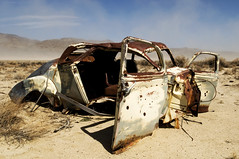 Halfway To Oblivion (Curtis Gregory Perry) Tags: dyer nevada desert old abandoned car rust rusty dust storm smashed crushed rotten ruined forsaken oblivion fav10 fav20 automóvil coche carro vehículo مركبة veículo fahrzeug automobil