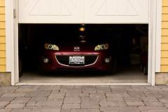 Peek-A-Boo (Light Collector) Tags: red peekaboo garage penny mazda miata mx5 ourdailychallenge