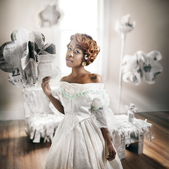 Dreamality (Rob Woodcox) Tags: light musician music white window beauty clouds newspaper dress michigan breath detroit surreal talent dreams singer whimsical airy lightrays robwoodcox robwoodcoxphotography britneystoney