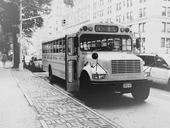 School Bus II (pablofalv) Tags: york school bw white newyork black bus vintage retro vehicles american escolar nueva 2010 nuevayork americano