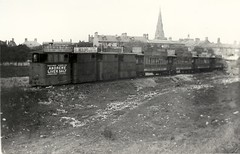 Redundant steam tram engines and trailers stored on the site of the 1865 Tynemouth terminus of the Blyth & Tyne Railway (colin9007) Tags: tram railway tyne steam tynemouth tramway blyth