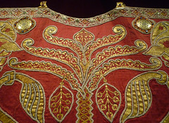 Coronation Mantle, detail of palm