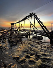 jeram revisited.. (TOREX PHOTOGRAPHY) Tags: sunset sea seascape texture landscape pantai jeram torex t0rex pantaijeram jerambeach