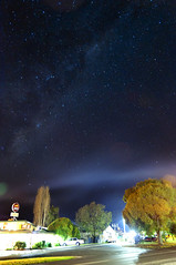 Pyalong Hotel at night (Indigo Skies Photography) Tags: road camera trees sky colour beer night rural lens stars photography hotel town pub flickr smoke country australia victoria nighttime colourful capture milkyway southernhemisphere southernsky nikond90 pyalong raychristy