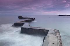 St Monans ( Explore ) (Angela Chambers) Tags: pink blue sea st misty canon landscape scotland seascapes purple harbour north 600d monans