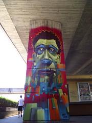 Coming together (Fat Heat .hu) Tags: graffiti big mural colorful head character pillar cube cfs molotow coloredeffects fatheat