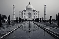 Mirrored Taj Mahal