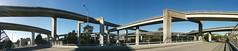maze (Jef Poskanzer) Tags: panorama concrete freeway flickrandroidapp:filter=none