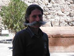 Armenia. Monasterio de Khor Virap. El bigotn tpico de un armenio (escandio) Tags: armenia 2014 khorvirap monasteriodekhorvirap