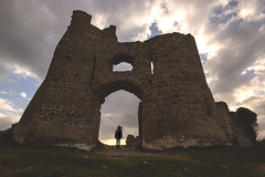 Blissful Beauty - Pennard Castle (Harriet Rose Scanlon) Tags: portrait castle clouds contrast self dark out landscape photography ruins mood shadows angle low dramatic highlights impact harriet washed scanlon atomsphere pennard
