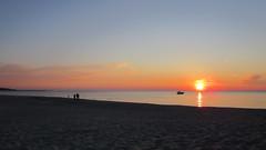 Dusk on beach (navarrodave80) Tags: sunset sea people beach dave poland calm serene ustka slihouette chmiel