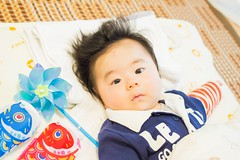 Baby of my friends (miki-re) Tags: baby house japan person friend hiroshima   koinobori  kissx7