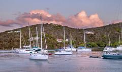 Mountain Sunset (Alida's Photos) Tags: sunset mountains clouds sailing dusk hills tropical caribbean bvi britishvirginislands