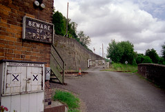 St Mary's Crossing Halt (1), 1999 (Blue-pelican-railway) Tags: station closed crossing railway goldenvalley gwr halt beeching brimscombestmary