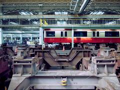 Keikyu Fine-tec Kurihama Factory   (: : Ys [waiz] : :) Tags: red plant japan train factory   kanagawa ricoh railfan yokosuka keikyu    grd     grd4