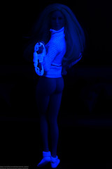 Fun with a Blacklight (edwicks_toybox) Tags: panty blacklight thong blonde ttl turtleneck 16scale femaleactionfigure phicen seamlessbody fireredrose