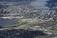 _D827096 (southfacing) Tags: ottawa ottawariver canadianwarmuseum lebretonflats chuckclark alexandriabridge airphotos20160507