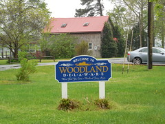 Welcome to Woodland, Delaware (jimmywayne) Tags: sign woodland historic delaware welcome citylimit sussexcounty