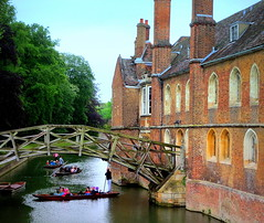 Mathematical Bridge, Queens' College, Cambridge (perseverando) Tags: cambridge college river university cam queens punting perseverando