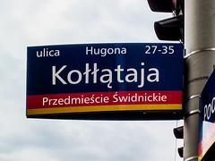 Wrocaw (isoglosse) Tags: sign streetsign poland polska schild polen sansserif wrocaw breslau znak ogonek kreska strasenschild u0142 tabliczkaznazwulicy