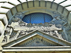 Relief on Old building of Central railway station (Hlavny nadrai) in Prague, Czech Republic. June 10, 2016 (Vadiroma) Tags: europe czech prague praha relief czechrepublic oldbuilding 2016 centralrailwaystation esko hlavnynadrai