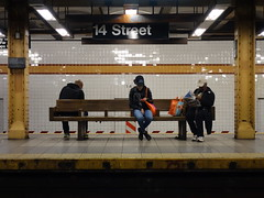 201605223 New York City subway station '14th Street' (taigatrommelchen) Tags: nyc newyorkcity railroad urban usa ny newyork station subway chelsea manhattan railway tunnel icon transit mass 20160518