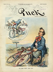 1896-08 The wind won't hold out (foot-passenger) Tags: puck americanmagazine   1896   caricature loc libraryofcongress
